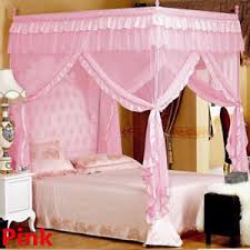 Mosquito Net Bed Canopy Mosquito Net Bed Canopy Lace Luxury 4 Corner Square Princess Fly
