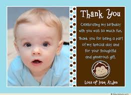birthday thank you card monkey thank you card blue boy photo polka dots