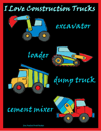 construction truck names construction preschool themes and