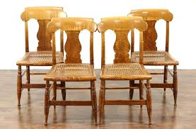 maple dining chairs sold set of 4 antique 1830 tiger birdseye curly maple new