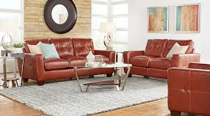 Living Room Sets For Sale Vittorio Rust 2 Pc Leather Living Room Leather Living Rooms