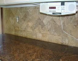 Image Of Travertine Tile Backsplash Best Kitchen Granite Counter - Noce travertine tile backsplash