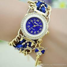 bracelet fashion watches images Women 39 s fashion watches girl vintage nylon bracelet key pendant jpg