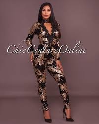 black sequin jumpsuit baldwin black gold sequins jumpsuit
