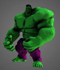 hulk cartoon 3d cgtrader
