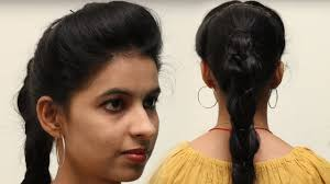 hair style in long hair simlpe front puff hairstyle in 5 minute front puff for thin