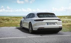 Porsche Panamera Back - 2018 porsche panamera turbo s e hybrid sport turismo rear left