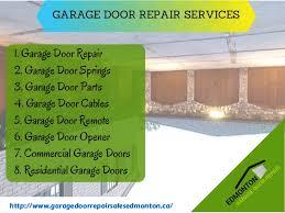 Garage Door Repair And Installation by Local Garage Door Installation Replacement And Repair Service In Edm U2026