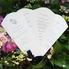fan program folding scallop wedding program fans wedding programs