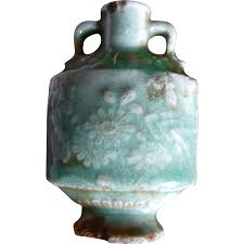 Chinese Celadon Vase 18c Chinese Celadon Porcelain Snuff Bottle From Hopibooks On Ruby Lane