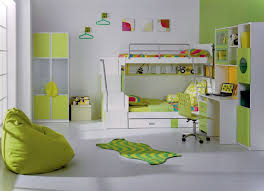 fabulous teen bedroom with green bean bag chair also white