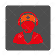 Hospital Receptionist Hospital Receptionist Vector Icon Style Is Flat Rounded Square