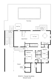 1 lot back vacation rental forever sunshine wh218 forever sunshine floor plan ground level jpg