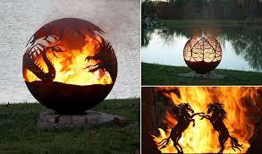 Metal Firepits Amazing Metal Pit Designs Home Design Garden