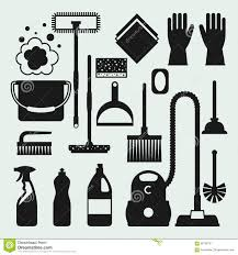 house keeping housekeeping cleaning flat icons set stock vector image 64066189