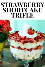 the best ever strawberry shortcake trifle uncommon designs