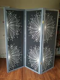 Diy Room Divider Curtain by Cheap Easy Room Divider Just Hang Fabric Through Them Do It