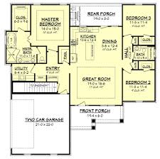 craftsman floorplans craftsman style house plan 3 beds 2 00 baths 1657 sq ft plan