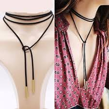 leather necklace tie images A women s necklace choker sexy jewelry leather long tie choker jpg
