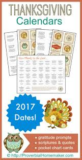 thanksgiving gratitude calendars printables