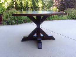 x base pedestal table ana white dyi plans the top of this is