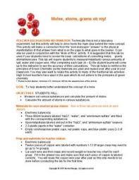 mole concept lesson plans u0026 worksheets reviewed by teachers