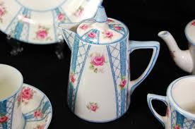 roses tea set c1909 hm williamson sons gainsborough tea set creamer sugar