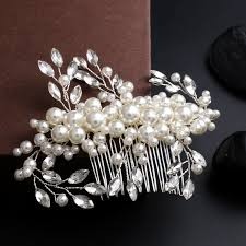 pearl hair accessories aliexpress buy handmade silver bridal hair comb white pearl