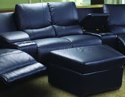 home theater couch living room furniture leatherette home theater sectional w motorized recliners