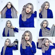 tutorial hijab segitiga paris simple hijab dengan jilbab segitiga hijab style 6