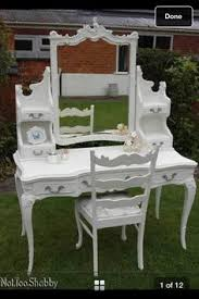 White Shabby Chic Dressing Table by Shabby Chic French Louis Style Kidney Dressing Table Painted In