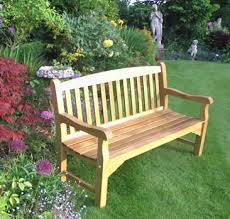 5ft Garden Bench Solid Oak Garden Bench 3 Seater 5ft Simply Wood