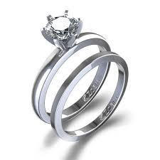 wedding sets 4 ctw classic solitaire diamond wedding set in 14k white gold