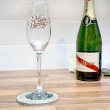 champagne glass cartoon engraved happy birthday champagne flute glass i just love it