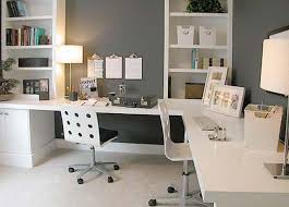 home office picture 2 person desk furniture together inside top