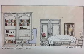 interior design sketching and space planning of a living room interior design sketching and space planning of a living room elevation view