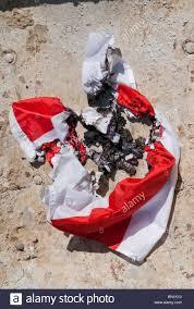 burnt st george england flag after the england football team crash