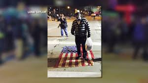 Illegal To Burn American Flag Controversial Protest No Charges For Man Seen Standing On