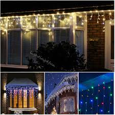 snowing icicle outdoor lights 5 25m icicle snowing outdoor indoor curtain window gutter fairy