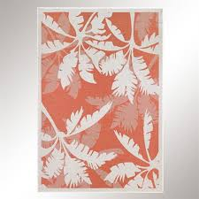 Coral Outdoor Rug with Koa Coral Tropical Palm Tree Indoor Outdoor Rugs