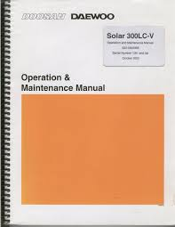 doosan daewoo excavator operation maintenance manual solar 300lc