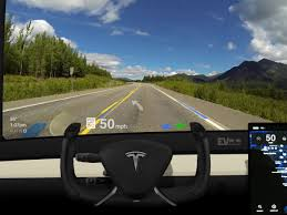 tesla windshield hud