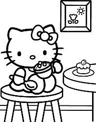 146 crafty kitty coloring images