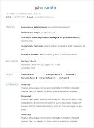 Resume Template Basic by Free Simple Resume Templates Simple Resume Templates Free Gfyork