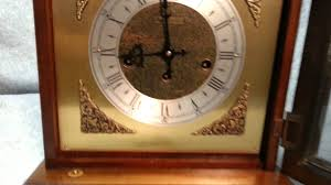 Emperor Grandfather Clock Value Bulova Westminster Chime 8 Day Bracket Mantel Clock Youtube