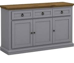 Buffet Cabinets And Sideboards Annabelle Buffet Cabinet Gray And Cottage Oak Transitional
