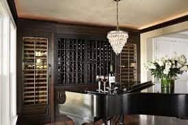 Temperature Controlled Wine Cellar - wine room ideas transitional dining room murphy u0026 co design