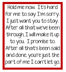 You Can T Make Someone Love You Quotes by Chicago Hard For Me To Say I U0027m Sorry Song Lyrics Music Lyrics