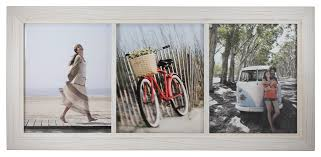 blanford classic wood photo frame white with 3 frames beach