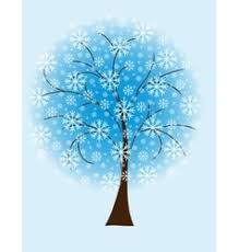 winter tree snowflakes royalty free vector image